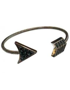 Love Hearts and Crosses - Gunmetal Crystal Arrow Bangle - Shop Jewellery - Quirky Fashion Jewellery and Accessories