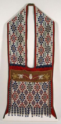 Bandolier bag, Winnebago Tribe, about 1900. No additional information.