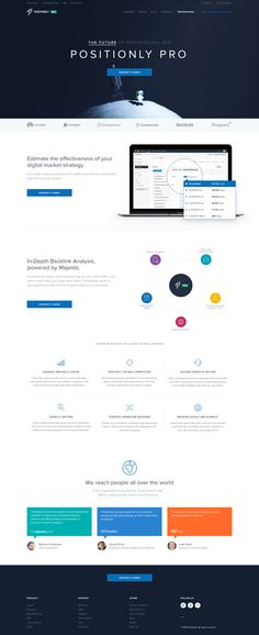 Clean website design with great use of white space.