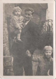 My Dad Bill, born in 1934 is the baby. Pictured here with his Father also Bill and his sister Dorothy.