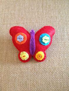 Fermacapelli farfalla in morbido feltro. di IlMagicoMondodiGaia