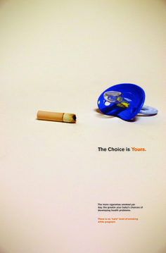 My social Issue Poster covering the issue of the negative side effects of smoking while pregnant.