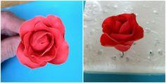 Gum Paste Flowers #2: Gum Paste Roses on Floral Wire - by cakedarla @ CakesDecor.com - cake decorating website