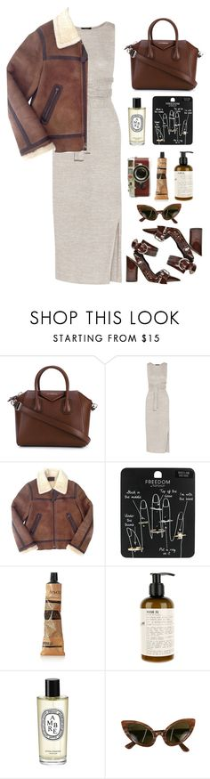 """""""negative ions"""" by millicent4 ❤ liked on Polyvore featuring Givenchy, Theory, Prada, Topshop, Aesop, Le Labo, Diptyque, Oleg Cassini and Leica"""