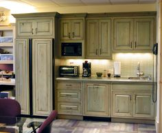 Distressed Kitchen Cabinets On Sage Green Kitchen Cabinets Design - Green kitchen cabinets
