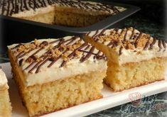 Ananasové řezy též zvané ORGASMUS | NejRecept.cz Vanilla Cake, Pina Colada, Creme, Sweet Tooth, Goodies, Food And Drink, Pie, Yummy Food, Sweets