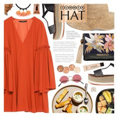 """Summer Hat"" by noviii ❤ liked on Polyvore featuring H&M, Zara, Lizzie Fortunato, Nordstrom, BaubleBar, Clinique, New Look and summerhat"