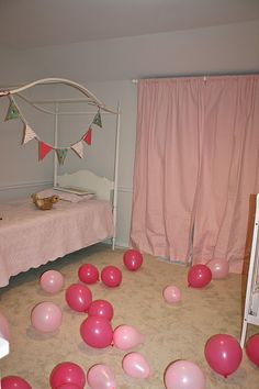 birthday balloons - decorate the room while they're sleeping so they wake to a festive birthday bedroom!