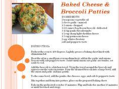 Broccoli & Cheese Patties Frozen Broccoli, Broccoli And Cheese, Baked Cheese, Cheddar Cheese, Broccoli Patties, Cheese Patties, Healthy Life, Healthy Eating, Salad Recipes