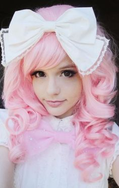 Too cute.  I mean TOO!  Is this the girl that does the doll make-up?