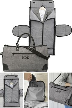 Groomsmen Travel Bag Gift Idea - Give your best man and groomsmen a travel bag they can use for your destination wedding weekend getaways business trips and general travel. This convertible carry on garment bag personalized with his initials is a functi Travel Bags Carry On, Mens Travel Bag, Travel Gifts, Travel Luggage, Wedding Gifts For Groomsmen, Wedding Gift Bags, Groomsman Gifts, Wedding Bridesmaids, Packing Clothes