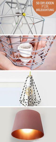 diy lampen selber machen lampe diy lampenschirme selber. Black Bedroom Furniture Sets. Home Design Ideas