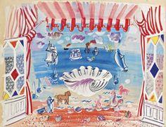 thunderstruck9: Raoul Dufy (French, 1877-1953), Décor pour le ballet 'Palm Beach', 1933. Gouache, watercolour and pencil on paper, 50.2 x 66 cm.