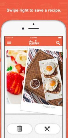 The Tender app is exactly what it sounds like: Tinder for food.