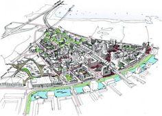 """""""Holanda fabulosamente compacta"""" es un programa con 36 estrategias de diseño que se presentó hace un tiempo para conservar los principales atributos de las ciudades e introducir el paisaje en el interior."""