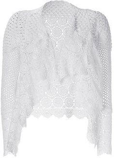 ShopStyle: MAJE White Chrocheted Lace Cardigan