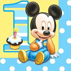 16 count mickeys 1st birthday lunch napkins blue you can get more details by clicking
