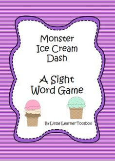 This fun sight words game includes all 40 Dolch Pre-Primer words. Players help hungry monsters to collect ice cream treats every time they read a word correctly.