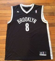 BROOKLYN NETS DERON WILLIAMS ADIDAS NBA JERSEY BLACK MEN SIZE L 3bf78c6007c9