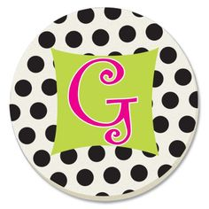 CounterArt Initially Yours Monogrammed G Absorbent Coasters, Set of 4 $10.99