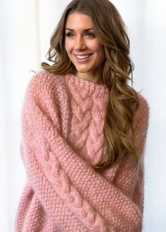 Another super soft and cozy mohair poppygenseren tonegenseren sweater Knit Dog Sweater, Pink Sweater, Baby Vest, Loom Knitting, Merino Wool, Wool Blend, Knitwear, Crochet, Long Hair Styles