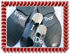 Wedding Shoe Stickers - Police Wedding - I Do Roger That - Free Shipping - Stickers. $10.00, via Etsy.