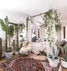 Boho Chic Bedroom Reveal Part 1 Interior Design. House Interior With Bohemian Decor Including Area Rugs And . A Charming Bohemian Home In West Palm Beach FL - Design . Home and Family Bohemian Bedrooms, Bohemian Apartment Decor, Boho Decor, Bohemian Living, Bohemian Interior, Scandinavian Interior, Bedroom Vintage, Modern Bedroom, Master Bedroom