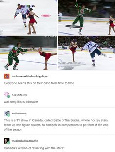 I'm pretty sure we have a literal Dancing With the Stars Canada ALSO I DID NOT KNIW THIS EXISTED I NEED TO WATCH!!
