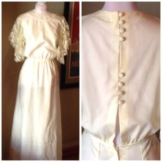 Vintage 1970s does 30s Wedding Dress   Formal   36 Bust by VioletsEmporium on Etsy Formal Dresses For Weddings, Dress Formal, Formal Wedding, Wedding Dresses, Short Person, 1930s Style, Thing 1, 1930s Fashion, Tall Women
