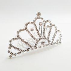 Corona Tiara Diadema Peine Nupcial Novia Boda Diamante de Imitación Media - M13 s.tmart.com #corona #tiara #diadema #crown #novia #nupcial #wedding #boda #fiesta #evento #queen #princesa #princess #reina #moda #belleza #beauty #plata #birthdayparty #makeupparty #party #regalo #gift #girl #wishlist #navidad #christmas #tmart #Tmart #joyas #joyeria #jewellery #pulsera #anillo #pendiente #collar #silver #oro #lujo #accesorios #bridal #headband #plata #comb #peine #haircomb #hair #pinza #pin