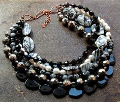 Bead Lover's Torsade - No15/Piccaso Jasper, Agate, FWPearl, Crystal | miabellacollection-jewelry