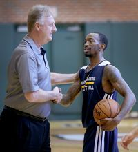 Former Louisville standout Russ Smith recently worked out for the Pacers and Larry Bird, among other teams.