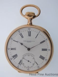 Superior 57mm Patek Philippe Gondolo Massive 18k Gold Pocket Watch 3x Sign #PatekPhilippe