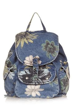 Topshop 'Mom' Floral Denim Backpack available at #Nordstrom