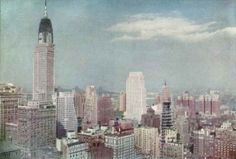 Chrysler & Johns Manville Bldgs under construction, NY, 30'