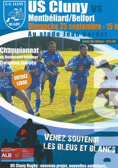 Match US Cluny rugby - Montbéliard-Belfort le 25 septembre 2016 : http://clun.yt/2cP2Rs3