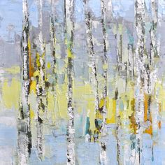 """""""Little Birch Trees and Green 1"""" Sara Cameli 