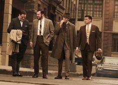 mad men - harry krane, paul kinsley, ken cosgrove & salvatore romano.