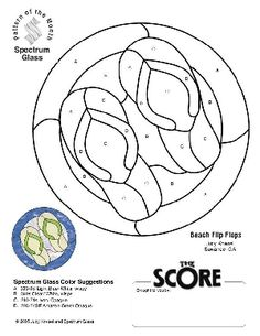 Free Stained Glass Pattern Flip Flops :: Patterns By . Free Mosaic Patterns, Stained Glass Patterns Free, Stained Glass Quilt, Faux Stained Glass, Stained Glass Designs, Stained Glass Panels, Stained Glass Projects, Mosaic Designs, Mosaic Projects