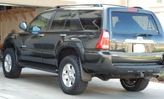 Here are the photos with the BudBuilt skids, super sliders and rack lights. Toyota Girl, Toyota 4x4, Toyota 4runner, Super Sliders, Four Runner, Cool Trucks, Jeep, Wheels, Bike
