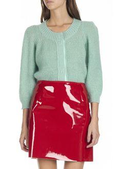Mini jupe en vinyle Rouge by TARA JARMON