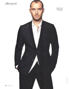 ELLE RUSSIA: JUDE LAW BY PHOTOGRPAHER BENOIT PEVERELLI