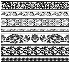 картинки по запросу (черно-белые бордюры)