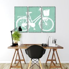 ROWER TRYPTYK 2   MIXGALLERY transport,bicycle,vintage,wallart,canvas,canvas print,home decor, wall,framed prints,framed canvas,artwork,art