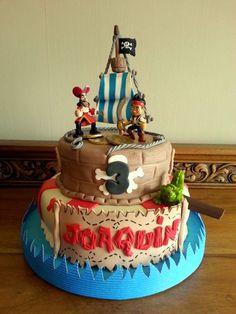 Torta de pirata jey - Imagui Pirate Birthday, Pirate Party, 4th Birthday Parties, 3rd Birthday, Jake Cake, Pirate Decor, Party Cakes, Party Time, Cake Decorating