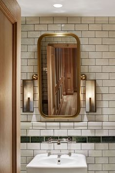 Nightingale by David Hawksworth | Studio Munge. Restaurant BathroomPublic  BathroomsBathroom MirrorsDesign ...