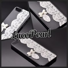 Sale! Lace Pearl Series iPhone 5 Cases - Bow Black http://www.dsstyles.com/en/iphone-5-cases/lace-pearl-series-bow-black-2.html