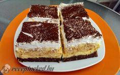 Gesztenyés, babapiskótás krémes Hungarian Recipes, Tiramisu, Baking, Cake, Ethnic Recipes, Food, Drinks, Self, Caramel