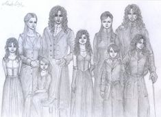 The Noble and Most Ancient House of Black. Orion, Walberga, Cynage, Druella, Sirius, Regulus, Narcissa, Bellatrix, Andromeda Black.