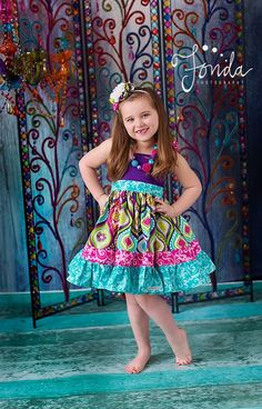 The Lola flutter dress for girls toddlers by amysbuttonsandbows, $50.00